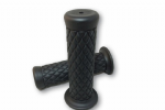 TPR Soft Grips Black Diamond Pattern: Bonneville/T100/Thruxton/Scrambler.  25mm/ Inch Diameter Bars
